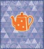 Modèle de cru de temps de thé Photographie stock libre de droits