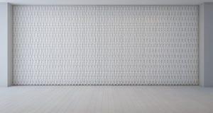 Modèle de décoration de mur dans la pièce blanche vide images libres de droits