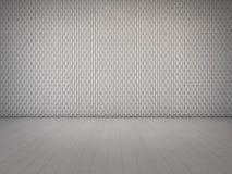 Modèle de décoration de mur dans la pièce blanche vide photo stock