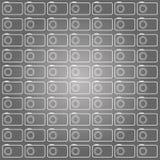 Modèle de découpe d'appareils-photo Photos stock
