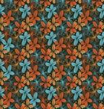 Modèle de dentelle sans couture décoratif de vintage avec des fleurs Photos stock