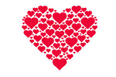 Modèle de dessin des coeurs, symbole de l'amour, jour du ` s de Valentine Photos libres de droits