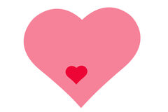 Modèle de dessin des coeurs, symbole de l'amour, jour du ` s de Valentine Photo libre de droits