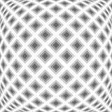 Modèle de diamant déformé par monochrome de conception illustration libre de droits