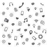 Modèle de différentes icônes Image libre de droits