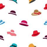 Modèle de différents chapeaux colorés Images libres de droits