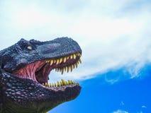 Modèle de dinosaure en parc crétacé d'orcko Bolivie de calorie images libres de droits