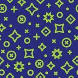 Modèle de Duotone Memphis Style Abstract Geometry Seamless illustration stock