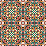 Modèle de fête tribal ethnique pour le tissu Ornamental sans couture coloré géométrique abstrait de modèle illustration de vecteur