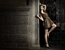 Modèle de femme de mode Photographie stock