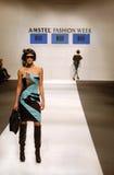 Modèle de femme en semaine de mode d'Amstel, Belgrade Image stock