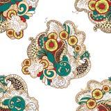 Modèle de filigrane de Mehendi, hindi sans couture et fait main Photo libre de droits