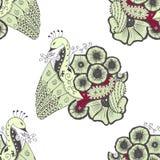 Modèle de filigrane de Mehendi, hindi sans couture et fait main Photo stock