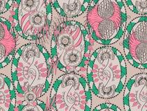 Modèle de filigrane de Mehendi, sans couture, fait main Photos stock