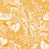 Modèle de filigrane de Mehndi, naturel sans couture et fait main Photos libres de droits