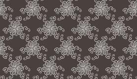 Modèle de fleur blanche élégant tendre sur gris-foncé illustration libre de droits
