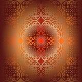 Modèle de fleur carré de vecteur symétrique Photo stock