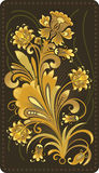 Modèle de fleur d'or photos libres de droits