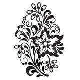 Modèle de fleur d'isolement sur le fond blanc Élément ornemental Photo libre de droits
