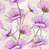 Modèle de fleur de ressort Image libre de droits