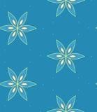 Modèle de fleur géométrique multicolore sur le fond bleu, sans couture Image libre de droits