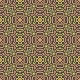 Modèle de fleur graphique coloré sur le brun illustration de vecteur