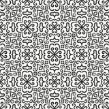 Modèle de fleur graphique noir sur le fond blanc illustration libre de droits