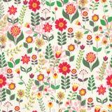 Modèle de fleur, imitation de style de griffonnage Belle texture florale décorative Photo stock