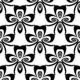 Modèle de fleur monochrome sans couture de conception Photo stock