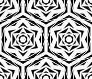 Modèle de fleur noir abstrait Images libres de droits