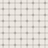 Modèle de fleur noir et blanc de vecteur Images libres de droits