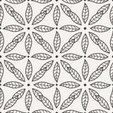 Modèle de fleur noir et blanc de vecteur Photographie stock