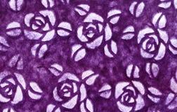 Modèle de fleur pourpre pour l'oeuvre d'art de fond et de conception image stock
