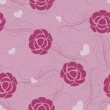 Modèle de fleur rose sans couture. Images libres de droits