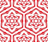 Modèle de fleur rouge abstrait Image libre de droits