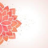 Modèle de fleur rouge d'aquarelle Fond de vecteur Photos libres de droits