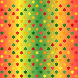 Modèle de fleur rougeoyant Fond sans couture de gradient de vecteur Photo libre de droits