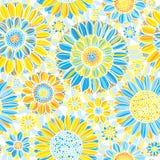 Modèle de fleur sans couture illustration libre de droits