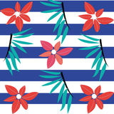 Modèle de fleur sans couture d'été Photo stock