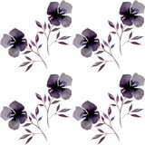 Modèle de fleur sans couture d'aquarelle de vintage Bannière de fond de vecteur Image libre de droits