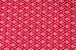 Modèle de fleur sans couture sur le tissu Photos stock
