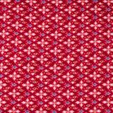 Modèle de fleur sans couture sur le tissu Photographie stock libre de droits