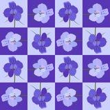 Modèle de fleur sans couture violet Texture sans joint de vecteur Photos stock