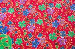 modèle de fleur sur le tissu Photo stock