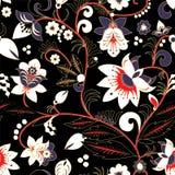 Modèle de fleur traditionnel sans couture de la Russie ou de l'orient mauvais illustration libre de droits