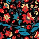 Modèle de fleur traditionnel sans couture de la Russie ou de l'orient mauvais illustration de vecteur