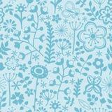 Modèle de fleur de vecteur Texture botanique sans couture noire et blanche illustration stock
