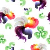 Modèle de fleurs abstrait Photographie stock
