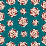 Modèle de fleurs classique de fond abstrait coloré Photographie stock libre de droits