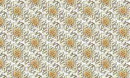 Modèle de fleurs d'or sur un fond transparent Photographie stock libre de droits
